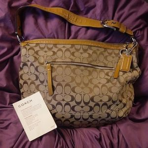 Brand new COACH signature canvas w/patent leather
